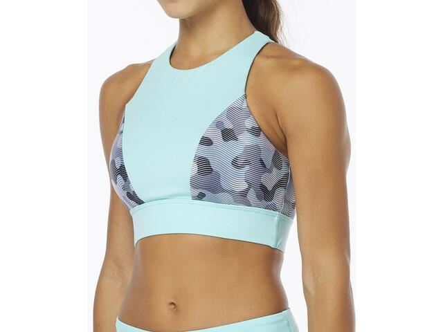 TYR Lavare Amira Top de bikini Mujer, grey/mint